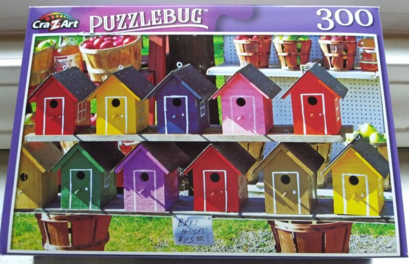 New 300 Piece Jigsaw Puzzle (Colorful Wooden Birdhouses For Sale) Puzzlebug