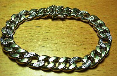 Königsketten-Armband  585er Gelb- und Weißgold mit 36 kleinen Diamanten