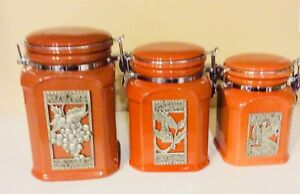 Seagull Pewter Canisters $40