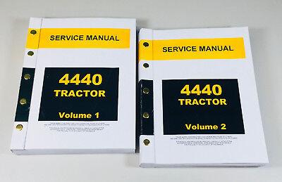Service Manual Set For John Deere 4440 Tractor Technical Repair Shop Overhaul Jd