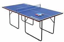 Slazenger Junior Indoor Folding 3/4 Size Table Tennis Table - Blue.