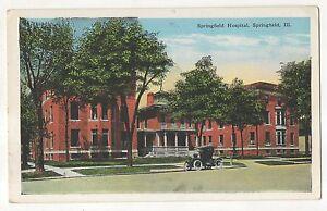 Springfield Hospital Springfield Il Vintage Illinois Postcard Ebay