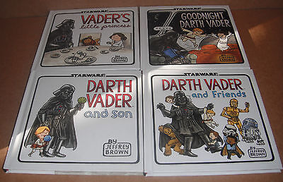 Lot of 4 Darth Vader Books by Jeffrey Brown Hardcover NEW