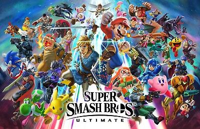 Super Smash Bros Ultimate - Beautiful Poster - 22 in x34 in - Fast Shipping