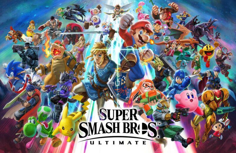 "Super Smash Bros Ultimate Poster Video Game Art Print 10x53/"" 15x79/"" 20x105/"" #4"