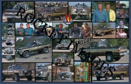 Fall Guy #3 Bad Ass Custom GMC Truck Poster 11x17! Buy 2 Posters Get 3rd FREE!!