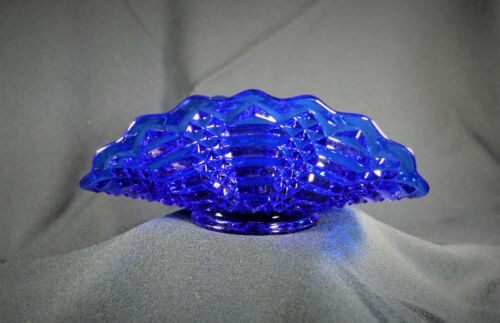 L.E. Smith Glass Banana Stand - Regency - Vintage Cobalt Glass