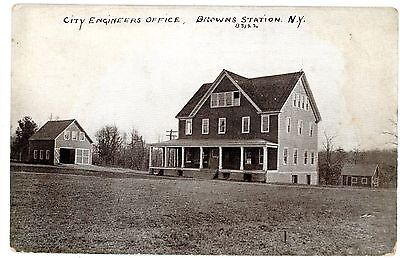 Browns Station Ny City Engineers Office Ashokan Reservoir Construction Postcard