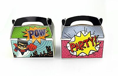 24pk Superhero Party Favor Treat Boxes Birthday Goodie Box Party Supplies LOT - Goodie Boxes