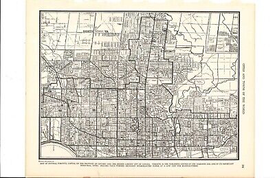 1947 Vintage TORONTO ONTARIO CANADA Map ready to frame for art
