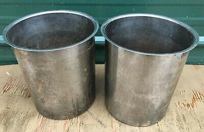 Lot Of 2 - Stainless Steel 8qt Pots Crock Insert Steam Table Quart Pan Salad Bar