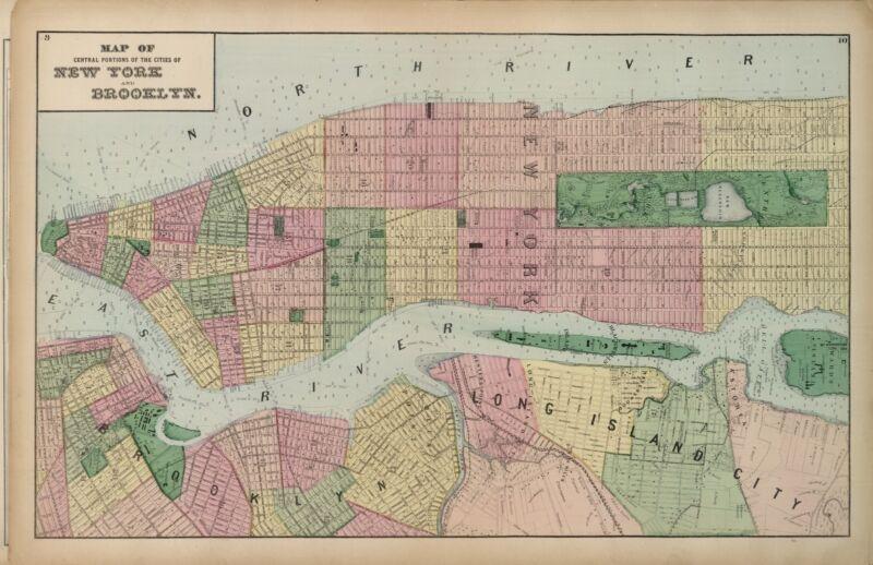 1873 Atlas Long Island New York maps land ownership plats county DVD T9