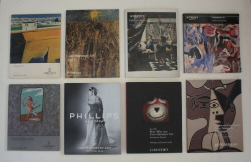 LOT OF 8 Vtg Modern Contemporary Pop Art Auction Catalogs Books Paintings Prints