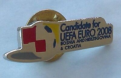 UEFA EURO 2008. BOSNIA & CROATIA, Candidate ( biding ) football pin badge (Croatia Pin)