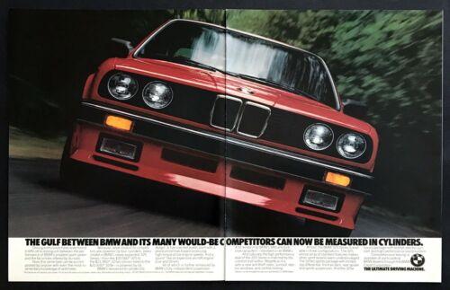 "1986 BMW 325es Sport Sedan photo ""6-Cylinder Eta Design"" 2-page vintage print ad"