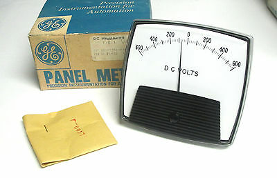 Nib ... General Electric Panel Meter Dc Volts Scale 600-0-600 ... Zm-122