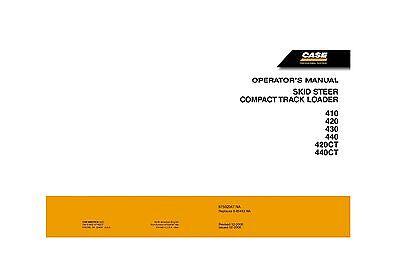Case 410 420 Ct 430 440 Ct Skid Steer Compact Track Loader Operators Manual