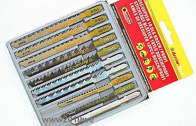 10 Stichsägeblätter T-Schaft für Bosch Holz Metall