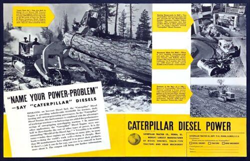 1937 Caterpillar Diesel D8 Tractor Hyster Logging Cruiser 2page vintage print ad