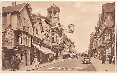 Surrey postcard GUILDFORD HIGH STREET 1930's by Friths