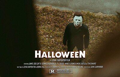 Halloween UNSIGNED 11x17 PHOTO #9 Michael Myers John Carpenter Jamie Lee Curtis