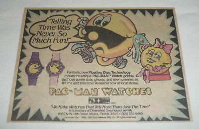 1981 cartoon ad ~ PAC MAN WATCHES, used for sale  Wilmington