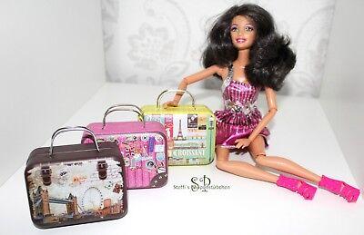 Koffer Miniatur für Puppenhaus Puppenstube 1:6 Barbie und 30 cm Modepuppen