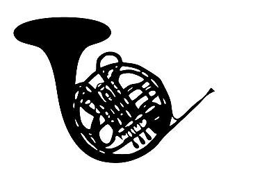 - French Horn Band Jazz Vinyl Wall Art Decal Removable Sticker U Pick Size/Color