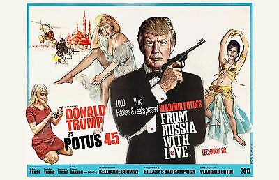 """James Bond Parody Poster featuring Trump-11x17"""" Signed By Artist - Vivid Colors"""