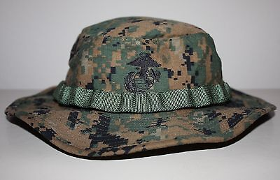 NEW USMC Combat Boonie Cover Field Woodland MARPAT Digital Genuine Issue ~ Large
