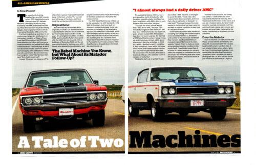 1970 REBEL MACHINE 390 & 1971 MATADOR MACHINE 401 ~ NICE 6-PAGE ARTICLE / AD