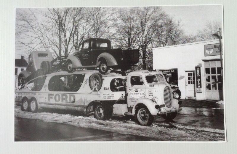 "1939 Ford COE Transporter 11x17"" Reprint Garage Decor"