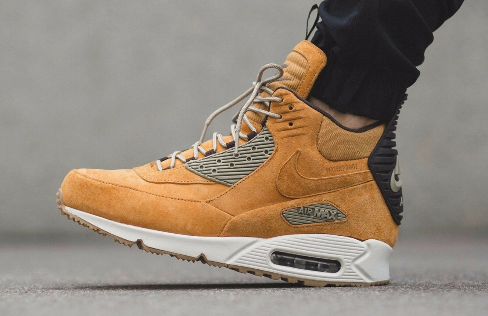 28ae6ed8 Nike Air Max 90 Sneakerboot Winter Waterproof - Wheat 684714-700 Mens Size  12 фото