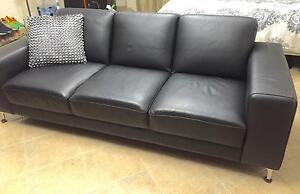 CHEAP LEATHER COUCHES SET 3 SEATER AND 2 SEATER $999 ONO RRP $2499 Bass Hill Bankstown Area Preview
