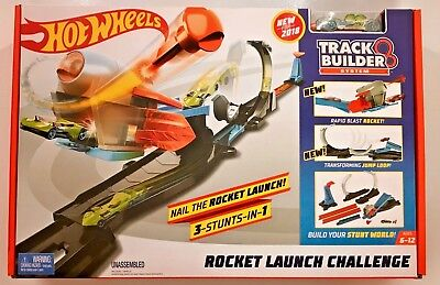 Hot Wheels Track Builder System Rocket Launch Challenge Set #FLK60 1:64 Scale