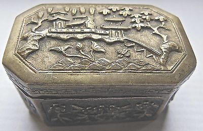 BOX STERLING SILVER,INDO-CHINESE,XIX° th CENTURIES