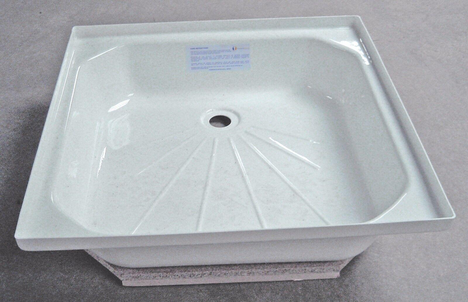 Caravan/Motorhome/Boat Shower Tray WHITE 610mm x 610mm (24 x 24 ...