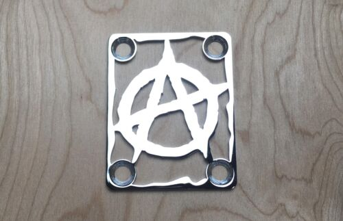 ANARCHY Neck Plate for your Guitar or Bass - Chrome