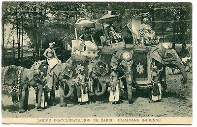 CPA - Carte Postale - France - Paris - Jardin d'Acclimatation - Caravane Indienn