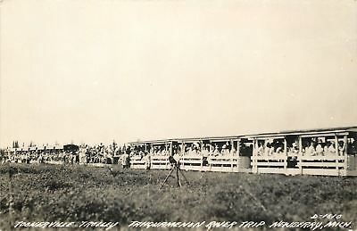 Michigan Trolley (Newberry Michigan~Toonerville Trolley Tahquamenon River Trip~1950s RPPC)
