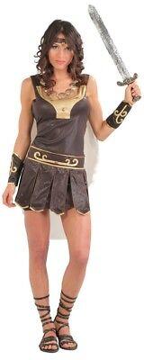 Damen Sexy Römischer Gladiator Armee Historisch Karneval Kostüm Kleid Outfit ()