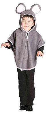 Mädchen Jungen Kinder Grau Maus Ratte Nagetier Tier Kostüm Kleid Outfit
