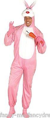 Donna Uomo Rosa con Coniglio Easter Bunny Animale Costume Vestito Grande