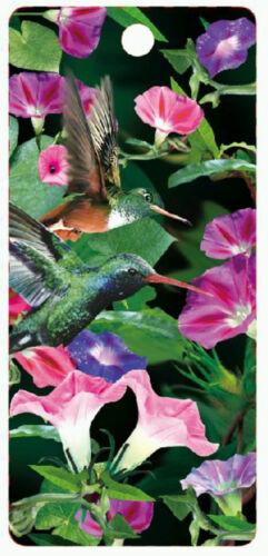 Hummingbird 3D lenticular bookmark 15cm x 5.75cm with tassel