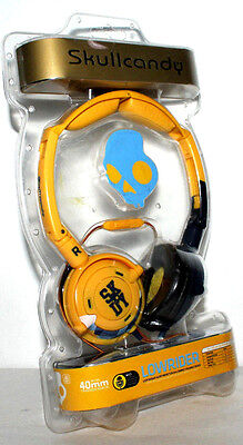 SKULLCANDY LOWRIDER IN LINE MIC HEADPHONE FOLDABLE YELLOW 40 MM DRIVER, used for sale  Shipping to India