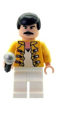 Custom Designed Minifigure - Freddie the Rock Star Printed On LEGO Parts