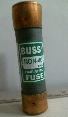Bussman Non-40 Amp One-time Fuse Class K5 250v Or Less Free Shipping