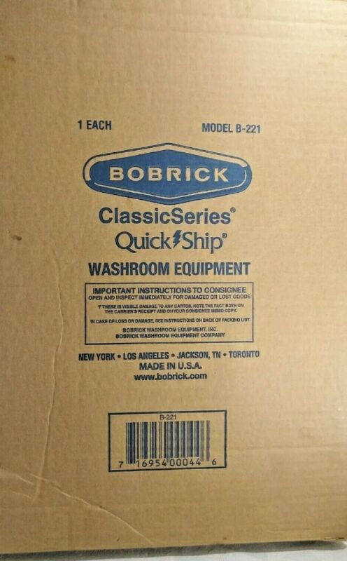 BOBRICK Washroom Equipment Classic Series Seat Cover Dispenser-  Model B-B221