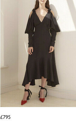 Rejina Pyo Camille Open Shoulder Dress UK6 NWT Black RRP £795