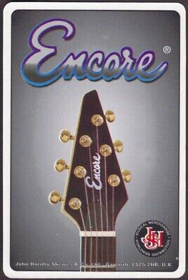 Playing Cards 1 Single Card Old Vintage * ENCORE GUITARS * Music Advertising Art